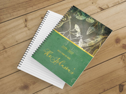 Personalize Notebook  (Gold Leaf) - Spiral Notebook - Notes From the Road