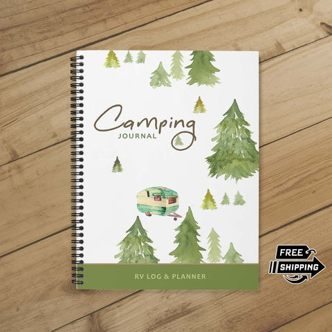 Camping Journal & Planner (Cabin in the Woods)