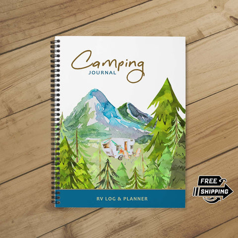 Camping Journal & Planner (Mountain View)