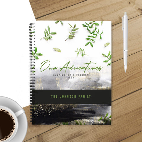 RV Log & Camping Journal (Grunge Outdoors) - Travel Planner - Personalize Camp Journal