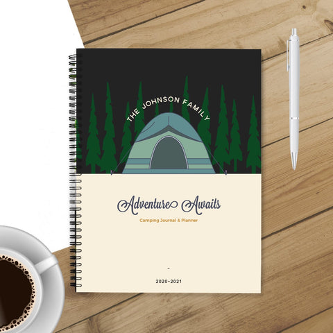 RV Log & Camping Journal (Tent in the Woods) - Travel Planner - Personalize Camp Journal