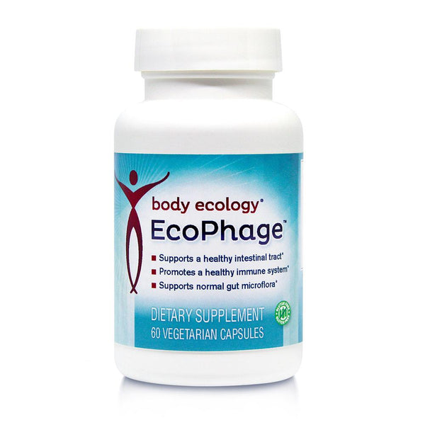 Body Ecology EcoPhage supports a healthy intestinal track, immune system, normal gut microflora,  SIBO or digestive disorders