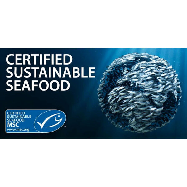 MSC known as the Marine Stewardship Council certifies that Green Pasture uses Certified Sustainable Seafood