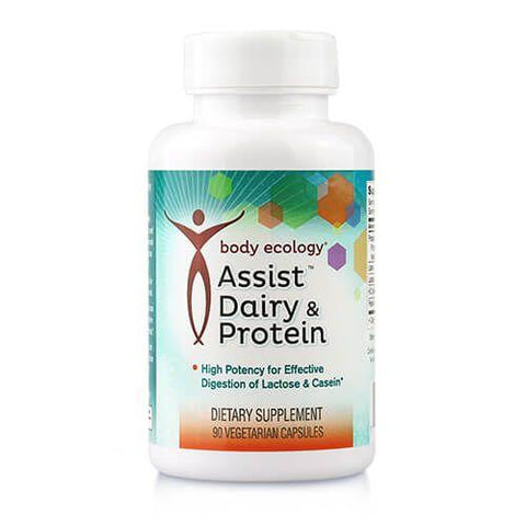 Body Ecology Assist Dairy & Protein effective digestion of lactose and casein Nourishing Ecology Australia HCL pepsin protease enzymes