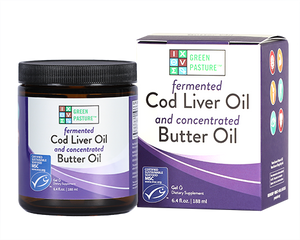 Fermented Cod Liver Oil | Green Pasture Blue Ice Unflavoured Royal Blend Australia Fermented Cod Liver Oil and Concentrated Butter Oil Gel 188ml