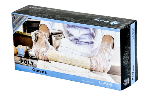 Poly Disposable Gloves in 500 ct. Dispenser