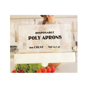 24 x 42 Poly (LDPE) Disposable Aprons