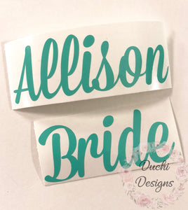 0a6b52c2437b Decals ONLY Bride Tribe Flip Flops