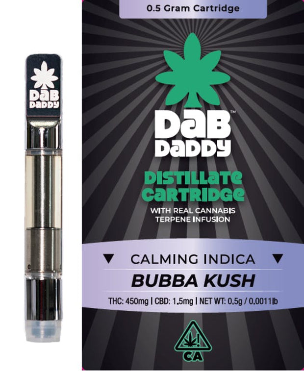 1x Dab Daddy Bubba Kush.5g Cart