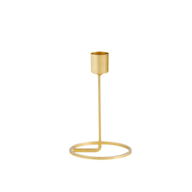 Candle Holder in Gold