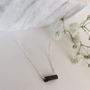 Hematite necklace - Geometric Pendant