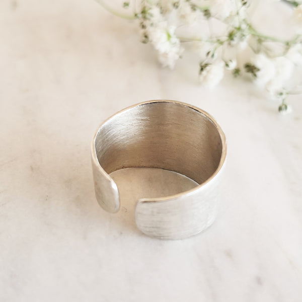 Big Silver Ring with a matt finish - Silver 925