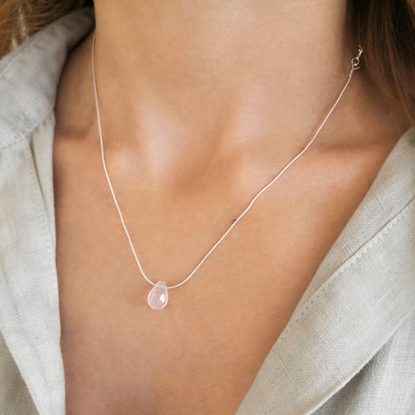 Roz quartz silver Necklace