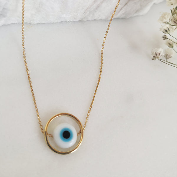 Good Luck Pendant ! Evil Eye Necklace