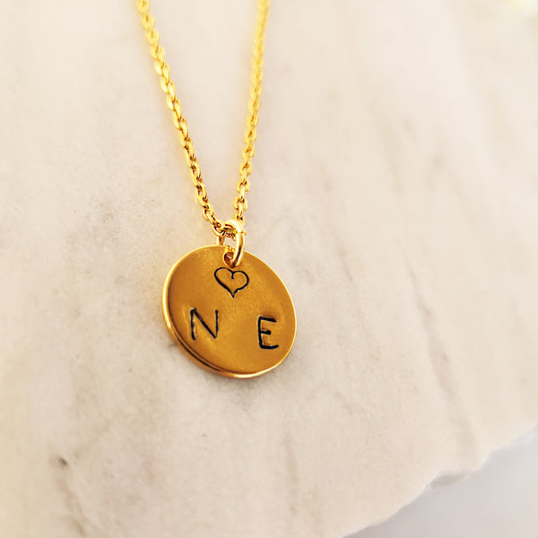 Dainty Personalized coin necklace