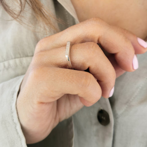 Shiny Silver Thin Ring