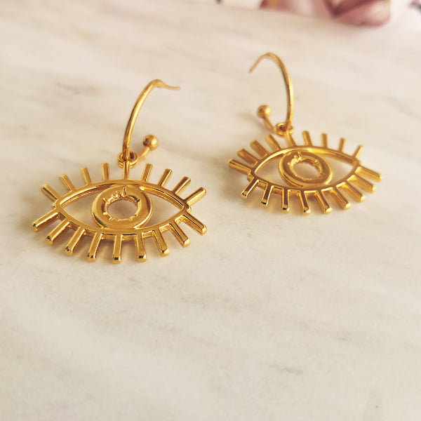Evil Eye Hoop Earrings