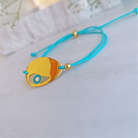 Good Luck Bracelet with an  Evil Eye Protection Pendant!