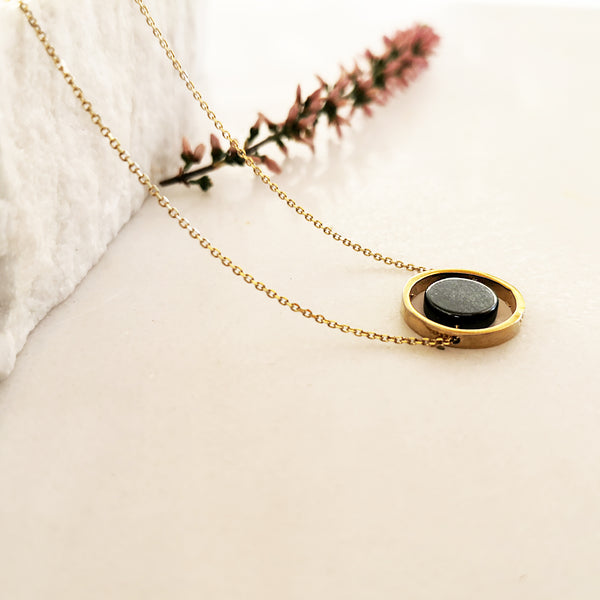 Hematite Necklace in Geometric Style