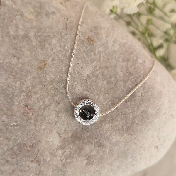 Silver 925 Ring &  Hematite Necklace