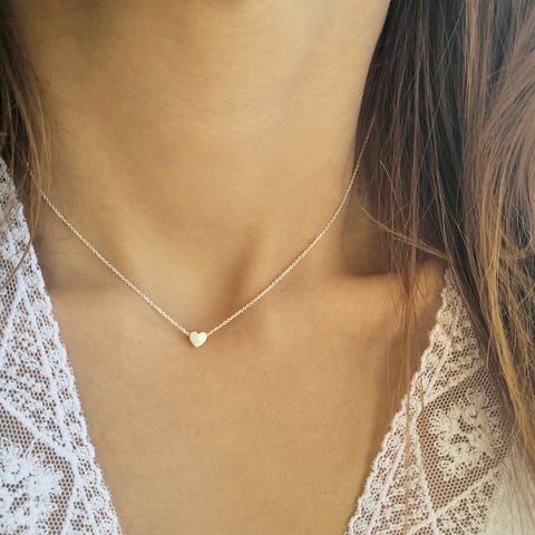 Silver 925 heart necklace in minimalist style!