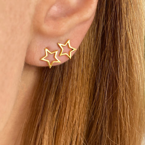 Tiny Star Earrings, Tiny Star Studs, Gold Star Studs, Sterling silver 925 Gold filled