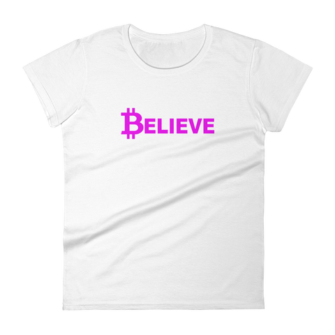 Believe - pink on white