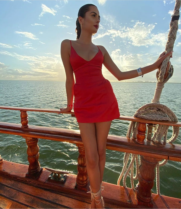 Fire Red Cancun Cruise Dress