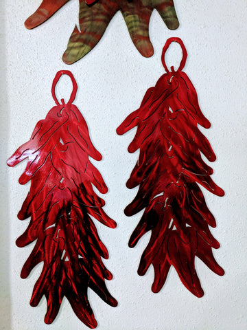 Side by side Chile Ristras