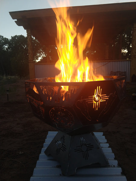 Puro Nuevo Hexagonal Fire Pit - Available for Pick Up Only
