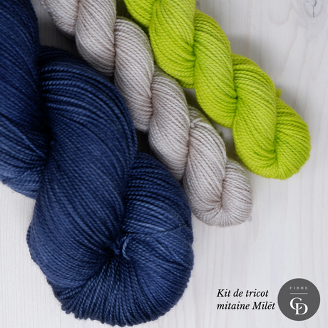 Yarn kit for Mīlēt mittens by Ysolda Teague