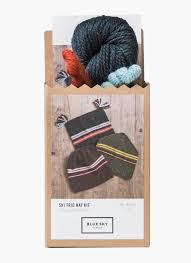 Ski Trio Hats Knitting Kit by Blue Sky Fibers
