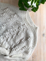 Poinsettia Pullover Nueva Yarn Kit by Marie-Christine Levesque