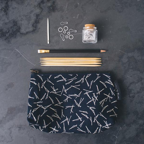 Notions Zipper Pouch by Twig & Horn (Medium)