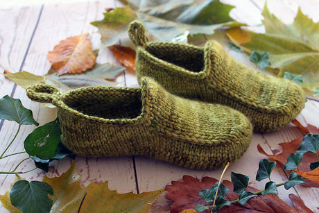 Yarn kit for Woodland Loafers by Claire Slade