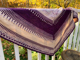 Yarn kit for Ambershore shawl by Inese Sang
