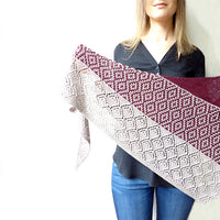 Laurelie Shawl knit Kit by Lisa Hannes