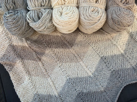 Yarn Kit for Chevron Baby Blanket by Espace Tricot