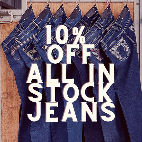 10% off jeans