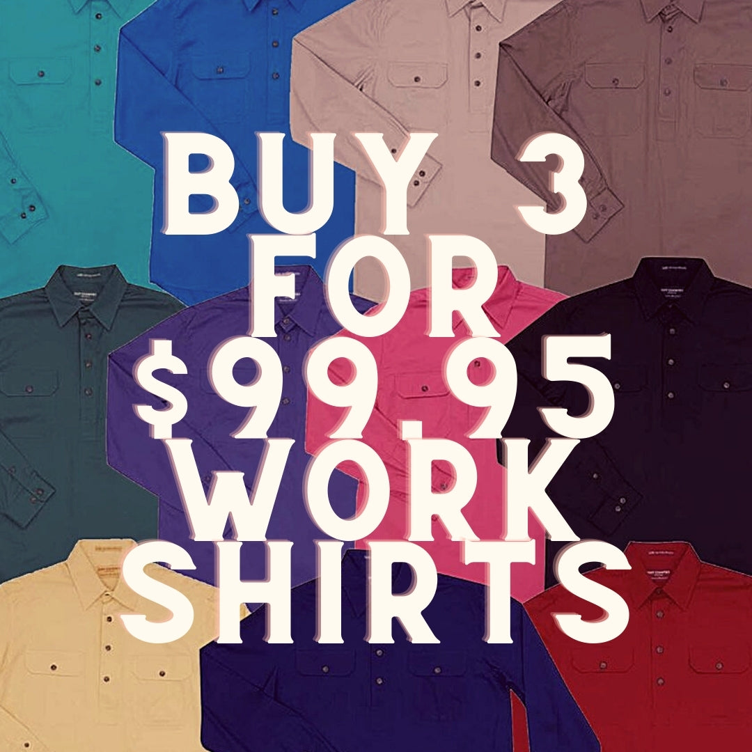 buy 3 for $99.95 work shirts