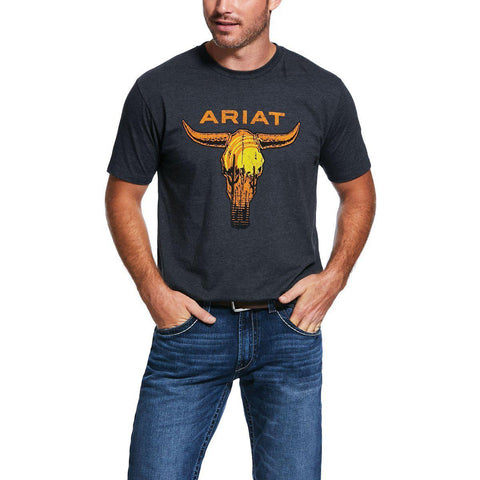 ARIAT MENS LONGHORN TEE-Ranges Country