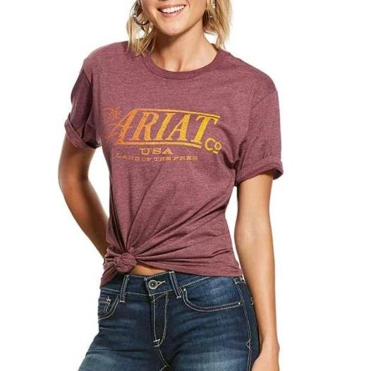 ARIAT WOMENS THE ARIAT TEE-Ranges Country