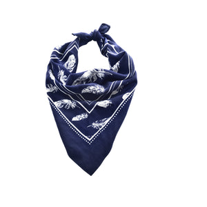 PURE WESTERN FEATHER BANDANA-Ranges Country