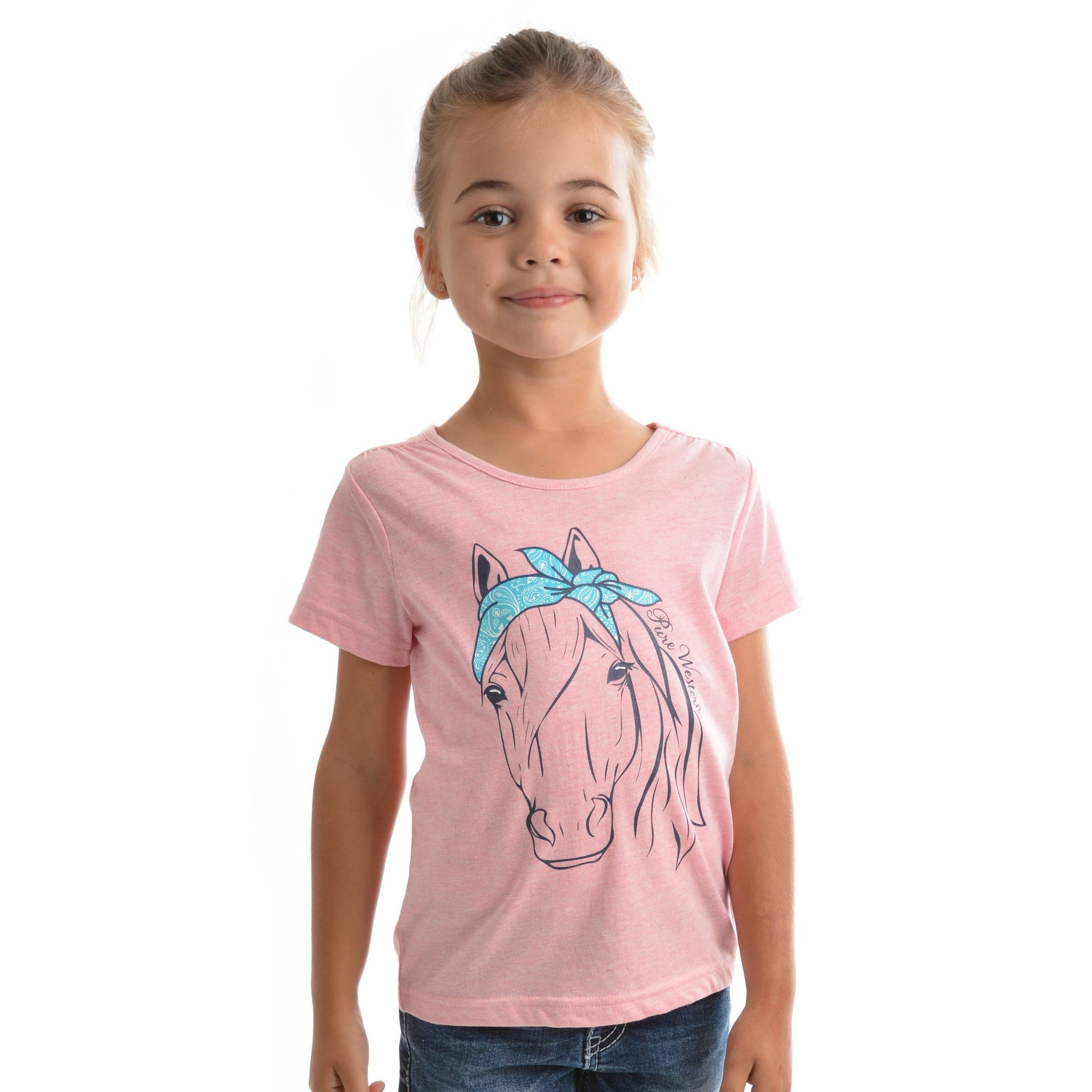 PURE WESTERN GIRLS SADIE TEE-Ranges Country