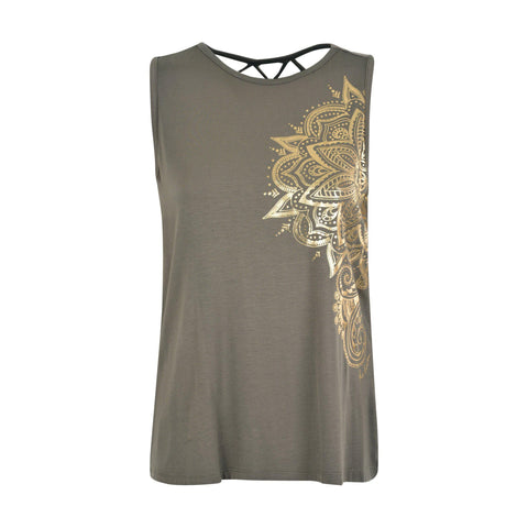 PURE WESTERN WOMENS JEWEL SINGLET-Ranges Country