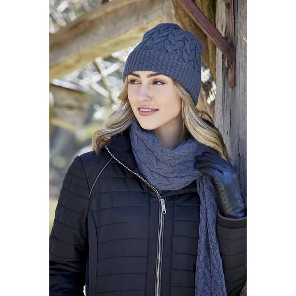 THOMAS COOK WOMENS CABLE KNIT BEANIE