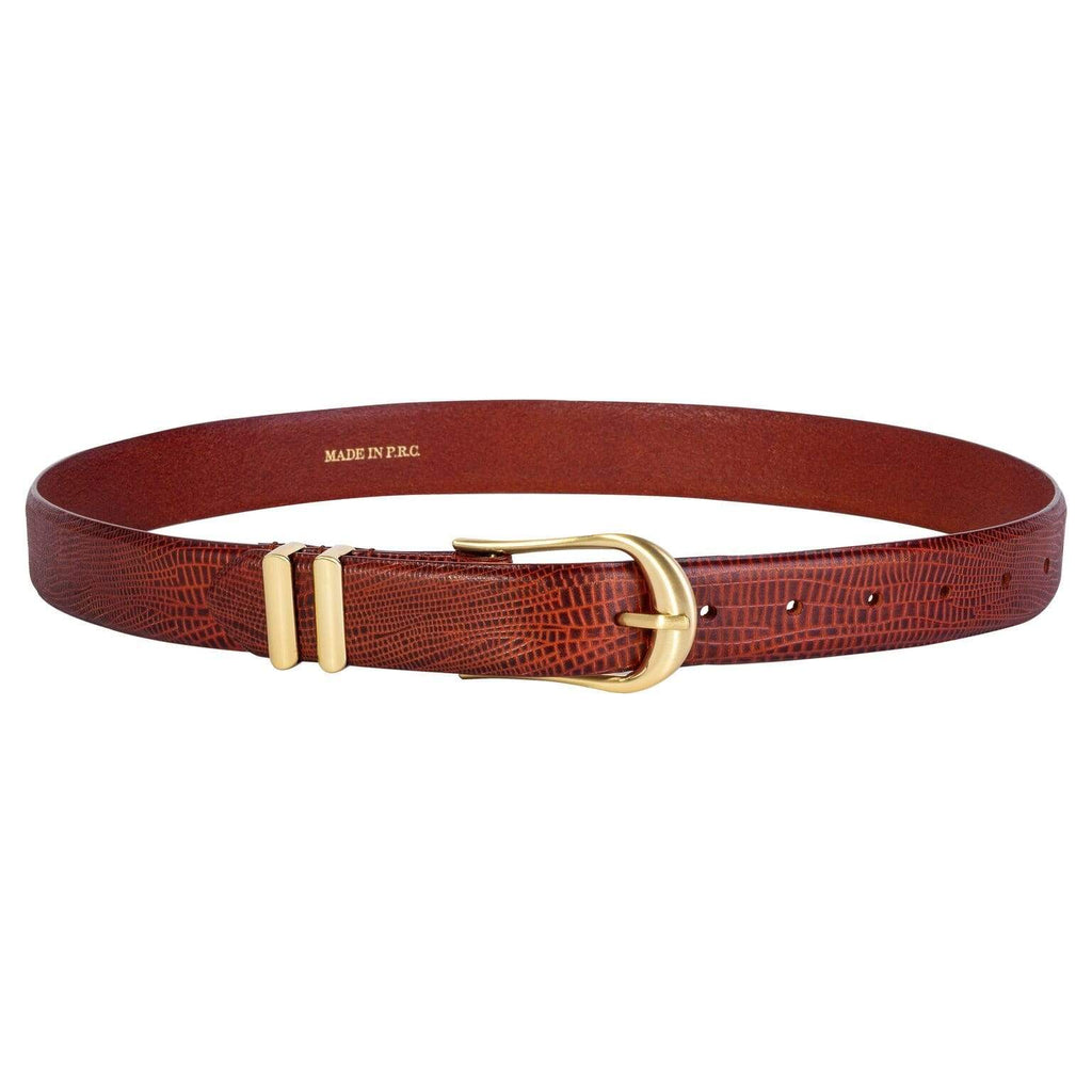 Sancia Belts Sancia | Inga Belt - Antique Tan Lizard