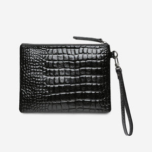 Status Anxiety Bags Status Anxiety | Fixation Clutch - Black Croc Emboss