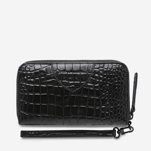 Status Anxiety Bags Status Anxiety | Moving On Wallet - Black Croc