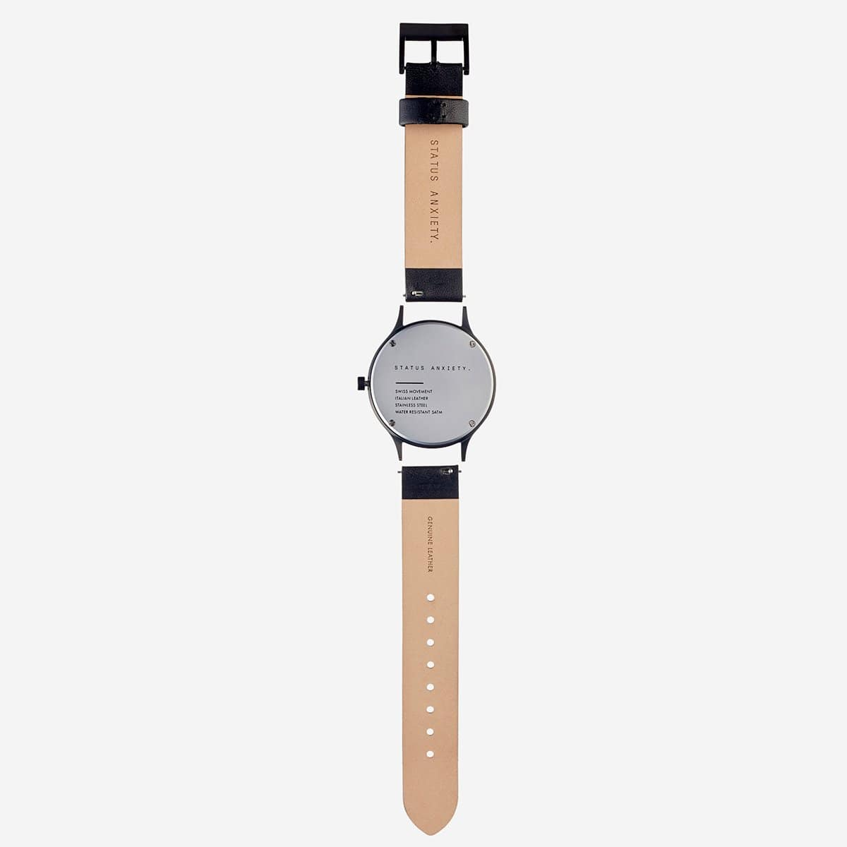 Status Anxiety Jewellery Status Anxiety | Inertia Watch - Black/White/Black